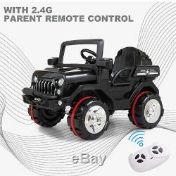 Electric Kids Ride on Truck Car 12V Battery Powered 3 Speed with Remote Control RC