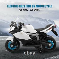 Electric Motorcycle Kids Ride On Car Toy Battery Powered 4 Wheels 3-Color Option