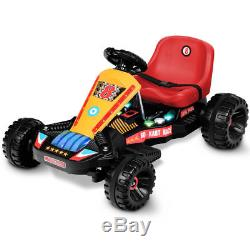 Electric Powered Go Kart Kids Ride On Car 4 Wheel Racer Buggy Toy Outdoor Red