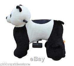 Electric Rechargeable Ride-on Plush Animal Rides MINI PANDA by Giddy Up Rides