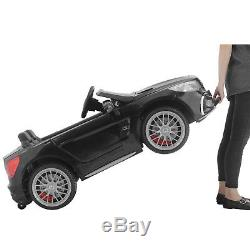 Electric Ride On Car 12V Mercedes Kids Toys Remote Control Music 4 Speed Black