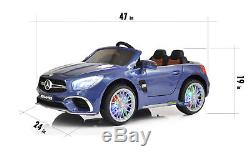Electric Ride On Car For Kids MP4 Screen Licensed Mercedes SL65 LED Screen Blue
