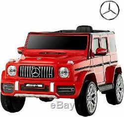 Electric Ride on Toy 12V Mercedes-Benz G63 Kids Licensed Car with RC Music Red