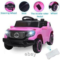 Electric Toy Girl Kids Ride On Car Truck Light with Remote Control 3 Speed Pink