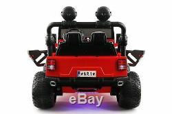 Explorer 12V Kids Ride-On Car Truck with R/C Parental Remote Red