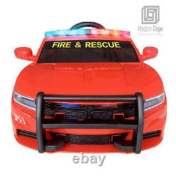 Fire Dept. Chief Officer Electric Ride On Car for Kids with 2.4G Remote Control