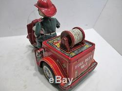 Fire Dept Tricycle Motorcycle Battery Op-good Cond-tin-made In Japan Works