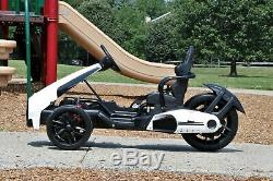 First Drive Electric Go Kart 12V White Electric Power Ride On Car