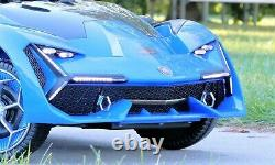 First Drive Lambo Concept Blue 12v Kids Ride-On Car