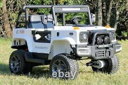First Drive Large Jeep 2 Seater 24v AWD Motor Kids Electric Ride-On Car