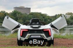 First Drive Lykan Hypersport Style White 12v Kids Cars Ride On Car with Remote