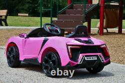 First Drive Lykan Style Pink 12v Kids Cars 12V Dual Motor Ride on Toy Car