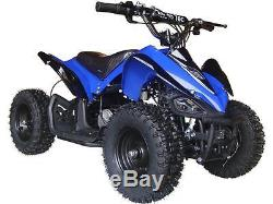 Four Wheeler For Kids 24V Electric Battery Mini Quad ATV V3 Outdoor Blue Mars