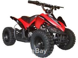 Four Wheeler For Kids 24V Electric Battery Red Mini Quad ATV 350W Outdoor Mars
