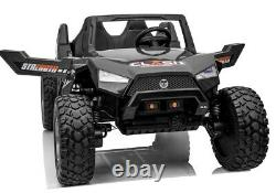 Fully Loaded Kids Electric Rzr SX1928 Black Ride On Car 24v Power Utv 2021 Tv