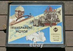 GESCHA 30s 40S GERMANY BATTERY OPERATED TIN TOY TRANSPARENT MOTOR Engine