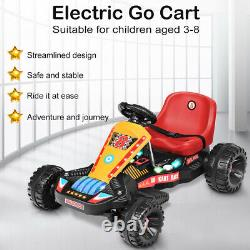 Go Kart Electric Powered Kids Ride On Car 4 Wheel Racer Buggy Toy Outdoor Red