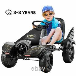 Go Kart Pedal Powered Kids Ride on Car 4 Wheel Racer Toy with Clutch & Hand Brake
