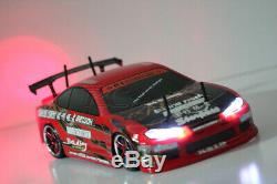 HSP Silvia 200sx 1/10 Scale RTR 2.4GHz Radio Control RC Electric Drift Car withLED