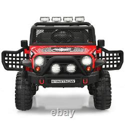 Honeyjoy 12V Kids Ride On Truck Remote Control Electric Car withLights&Music Red