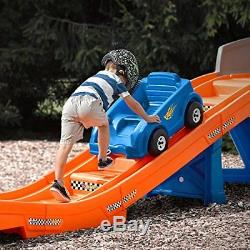Hot Wheels Ride-On Extreme Roller Coaster Playset Backyard Mini Amusement Park