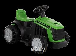 Huffy 12V Kid Electric Ride On Bubble Tractor Truck, Green