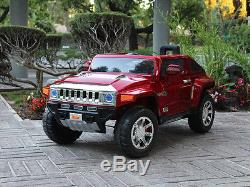 Hummer HX 12V Electric Power Ride On Kids Toy Car Truck with Parent Remote Red