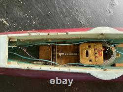 ITO 27 Submarine Battery Operated Toy Wood Boat TMY Motorized From Japan 40s