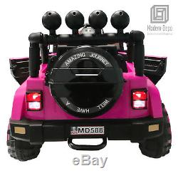 Jeep Style 12V Electric Kids Ride On Car with Remote control, Facelift Grille