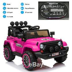 Jeep Style 12V Kids Electric Ride On Car with Remote Control, MP3, LED Lights
