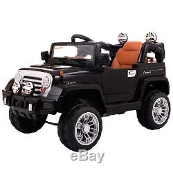 Jeep style Kids Ride On Truck Jeep Car RC Remote Control with LED Lights MP3 Music