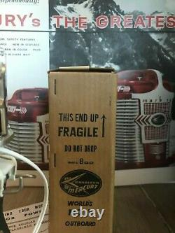 K&O Rare 1961 Merc 800 80 hp Mint in Box Battery operated Toy Outboard motor
