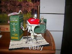 K&O TOY OUTBOARD MOTOR 1957 SCOTT OUTBOARD MOTOR NEAR MINT WithBOX GALE MERCURY