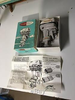 K&o toy outboard boat motor johnson model box papers RUNS 1961