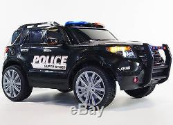 Kid ride on car 12v Ride on Car Ford Explorer style POLICE BJ9935 black Ride Toy