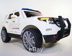 Kid ride on car 12v Ride on Car Ford Explorer style POLICE BJ9935 white Ride Toy