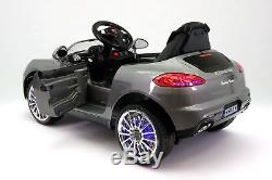 Kiddie Roadster 12V Kids Electric Ride-On Car with R/C Parental Remote Gray