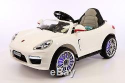 Kiddie Roadster 12V Kids Electric Ride-On Car with R/C Parental Remote White