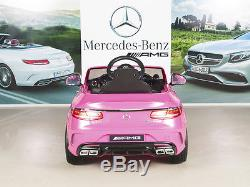Kids 12V Electric Power Wheels RC Ride On Car Mercedes-Benz S63 Radio & MP3 Pink