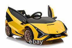 Kids 12V Ride On Car with Remote Control power Display USB MP4 Touch Screen Yellow