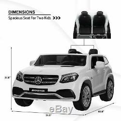 Kids 2 Seats 12V Mercedes-Benz GLS63 AMG Kids Ride On Car Electric Cars with RC