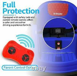 Kids ASTM-Certified Electric 6V Bumper Car With Remote Control 360 SpinDark Blue