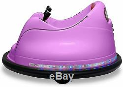 Kids ASTM-Certified Electric 6V Ride Bumper Car WithRemote Control 360 SpinPurple