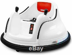 Kids ASTM-Certified Electric 6V Ride Bumper Car With Remote Control 360 SpinWhite