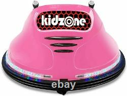 Kids ASTM-Certified Electric 6V Ride Bumper Car With Remote Control 360 Spin Pink