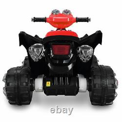 Kids ATV Quad 4-Wheel Ride On With 12V Battery Electric LED Lights ASTM F963, Red