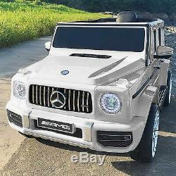 Kids Electric 12V Licensed Mercedes-Benz G63 Ride on Toy Car with RC Music White