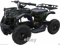 Kids Four Wheeler Outdoor Ride On 24V Electric Battery Mini ATV Quad Boys Girls