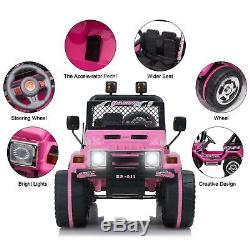 Kids Jeep Ride On Car Toy 12V Battery LED Light 3 Speed with Remote Control