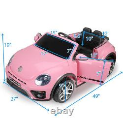 Kids Ride On 12V Car Beetle Style Battery Powered Toy Vehicle withRemote Control